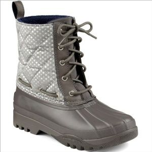 SPERRY Topsider Gosling Quilted Duck boot Grey